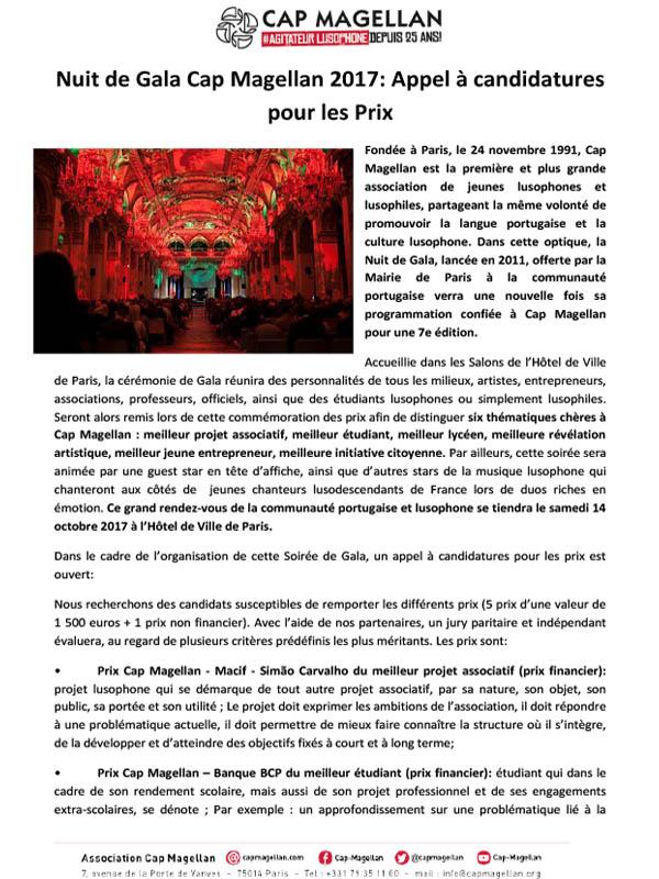 170908- Appel à candidatures -Nuit de Gala Cap Magellan FR-1