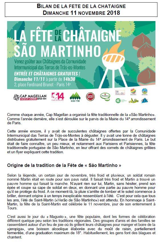 SAO MARTINHO 2018 bilan