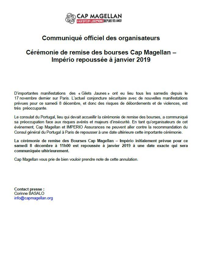 communiqué officiel EGL