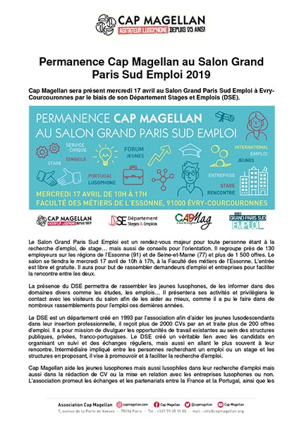 190412 - Permanence au Salon grand Paris sud emploi 2019