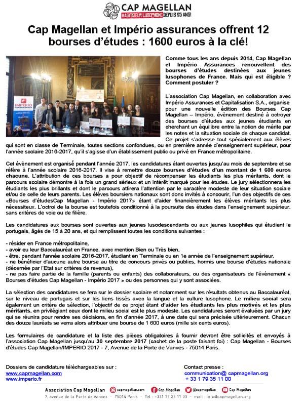 170915 - Appel a Candidatures Bourses FR