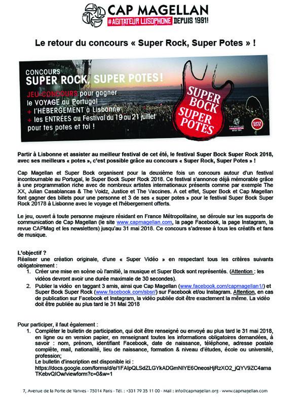 180427 - Le retour du concours « Super Rock, Super Potes » !-1
