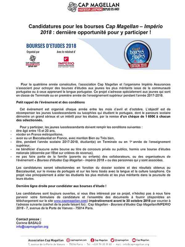 180928 - Candidatures bourses CM-IMP