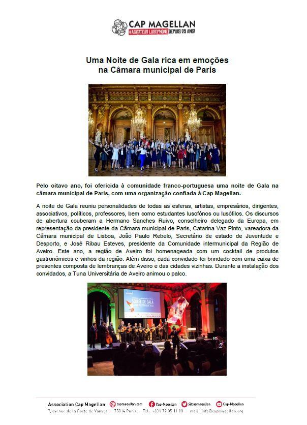 181018 - Uma noite de Gala rica em emoção na câmara municipal de Paris