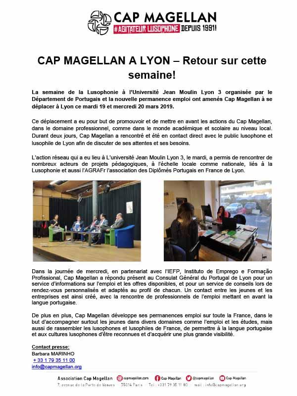 190322 - Le Cap Magellan à Lyon retour sur cette semaine