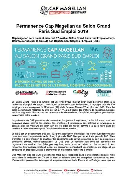 190412 - Permanence au Salon grand Paris sud emploi 2019