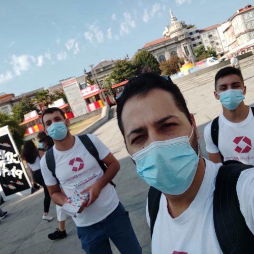 Sécurété2020 - Action Bénévoles à Braga - Distribution Guides de l'Éte - 06/08